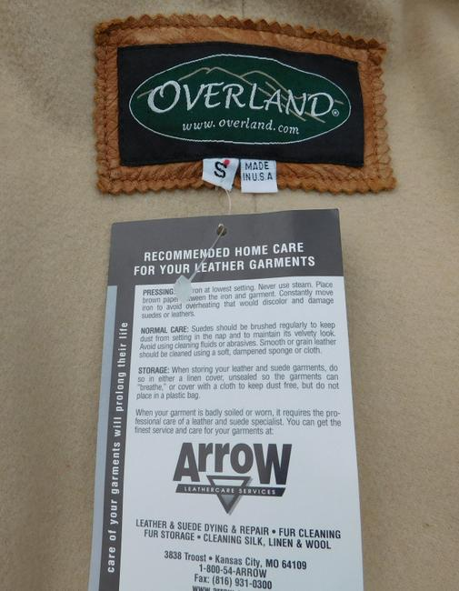 Overland Distressed Brown Leather Jacket Image 5