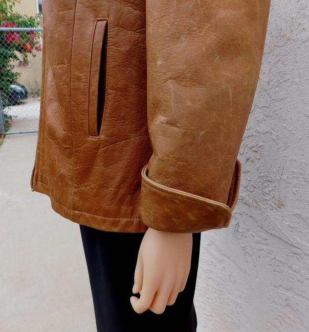 Overland Distressed Brown Leather Jacket Image 6