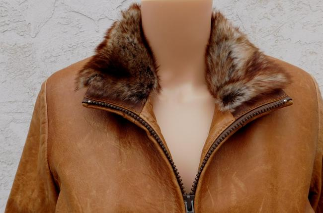 Overland Distressed Brown Leather Jacket Image 7