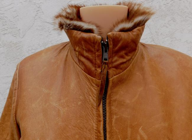Overland Distressed Brown Leather Jacket Image 8