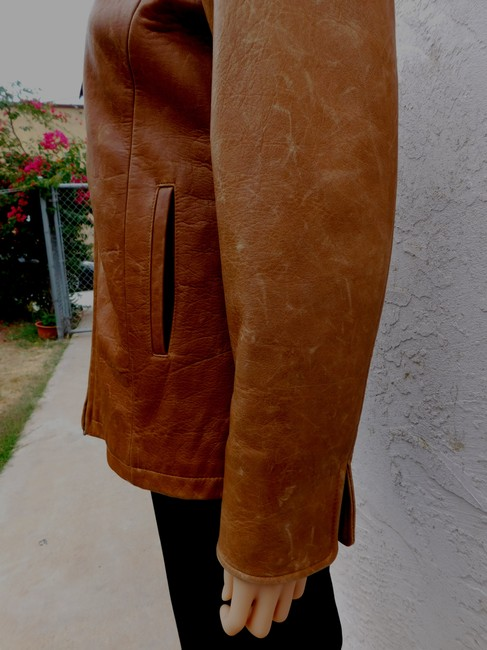 Overland Distressed Brown Leather Jacket Image 9