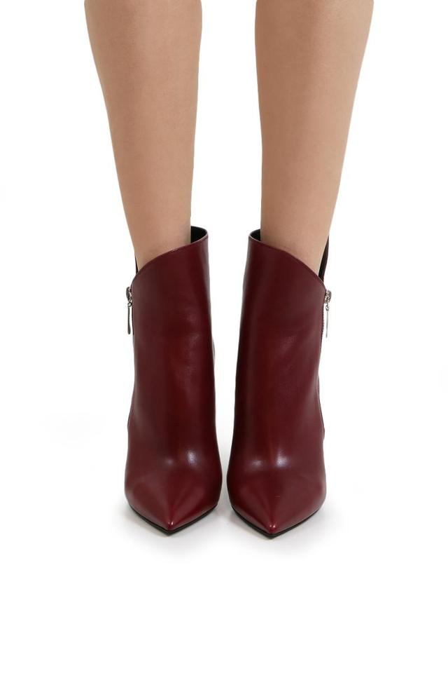 98eb303774a Saint Laurent Light Burgundy Niki 105 Asymmetrical Ankle In Leather  Boots/Booties Size EU 36 (Approx. US 6) Regular (M, B) 51% off retail