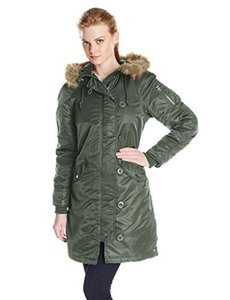 Alpha Industries Nylon Parka Slim Fit Military Jacket