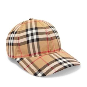 Burberry checked cotton baseball hat