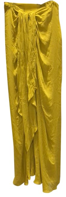 Item - Highlighter Yellow Bright Long Night Out Dress Size 4 (S)