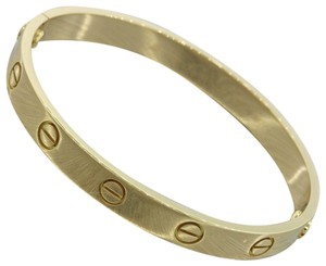 Cartier Cartier 18K Yellow Gold Love Screw Bangle Bracelet Size 20 w/Pouch E8
