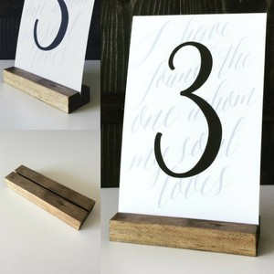 Brown Wooden Table/Sign Holders Other