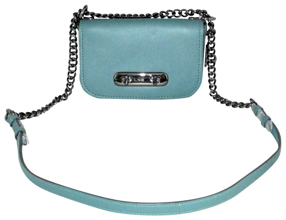 e3644a0d Coach Messenger Swagger 18858 Cross-body Blue Glovetanned Leather Shoulder  Bag 66% off retail