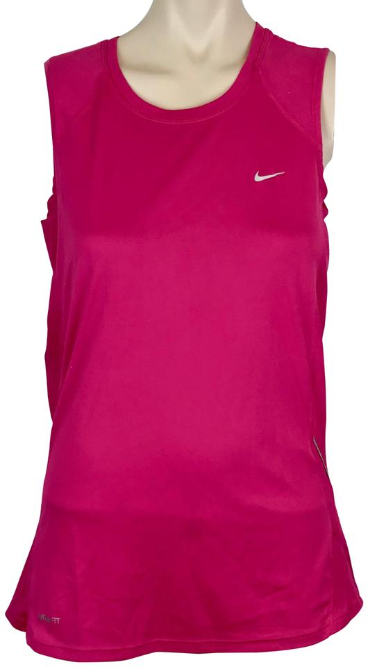 7f07929828e Nike Hot Pink Fuchsia Sleeveless Athletic Shirt Fit Dry Activewear Top