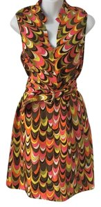MILLY short dress multi colors on Tradesy