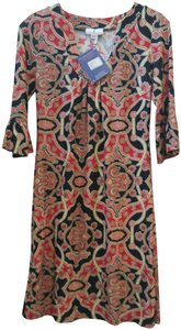Jude Connally short dress Black, Red, Cream Tunic on Tradesy