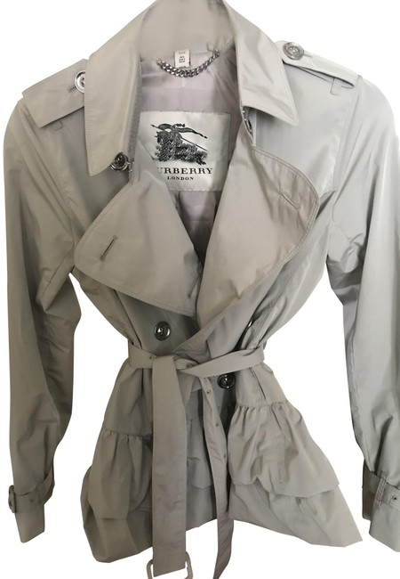 Item - Beige Cropped Trench Coat Jacket Size 4 (S)