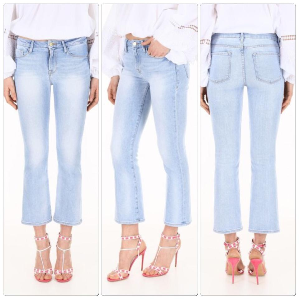 0281a01a76022 FRAME Light Rinse Wash Le Crop Mini Boot Capri Cropped Jeans Size 2 ...