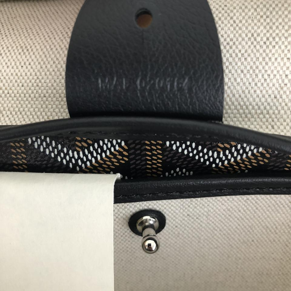 Goyard Mm Artois Tote Black Canvas zABznU