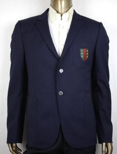 Gucci Blue 70s Twill Stretch Formal Jacket 2 Buttons It 58r/Us 48r 406583 4379 Groomsman Gift