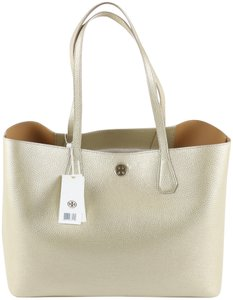 Tory Burch Tote in Soft Gold / Caffe