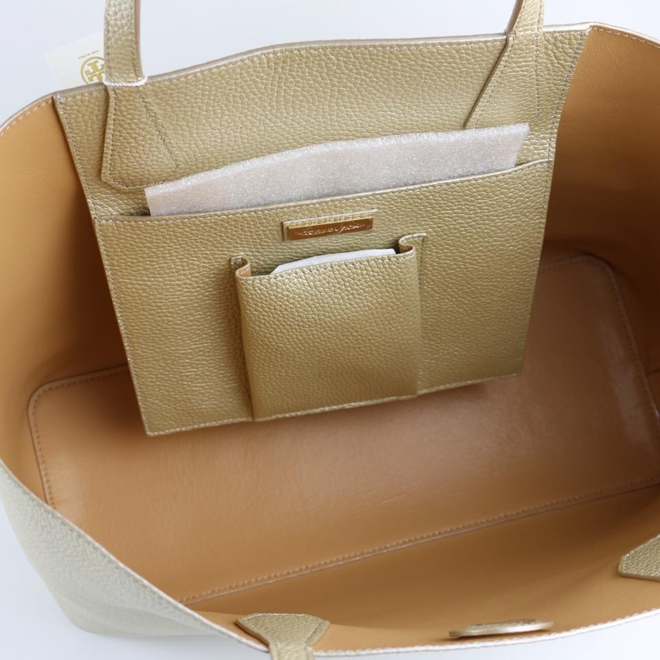 Tory Leather Burch Caffe Perry Gold Soft Tote XarAxX