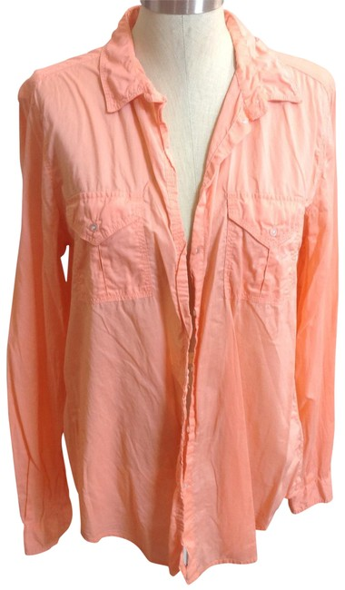 Item - Coral Button-down Top Size 12 (L)