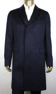 Gucci Blue Eco Cashmere Slim Coat 3 Buttons It 44r/Us 34r 353007 4440 Groomsman Gift