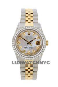 Rolex Free Shipping 2.1ct 36mm Datejust Gold S/S with Box & Appraisal Watch