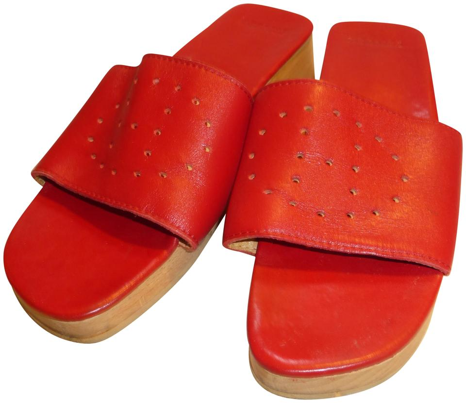 women Hermès Red Red Red Mules/Slides Queensland 850cd8