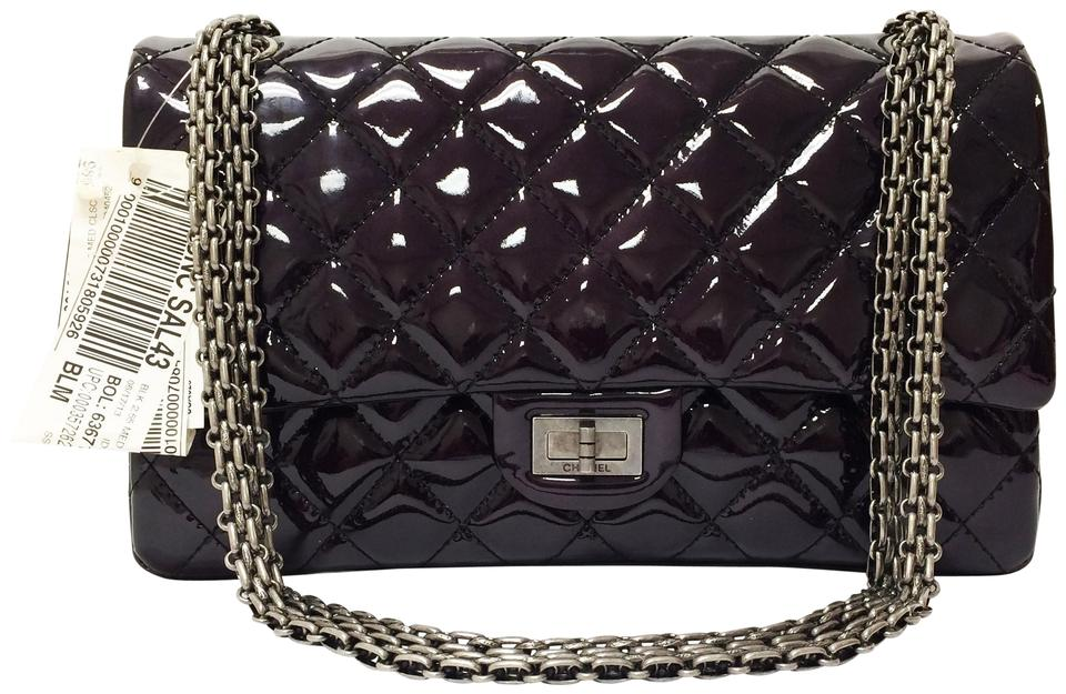17dc0bf3a3ee Chanel Patent Leather Classic 2.55 Reissue Medium Shoulder Bag Image 0 ...