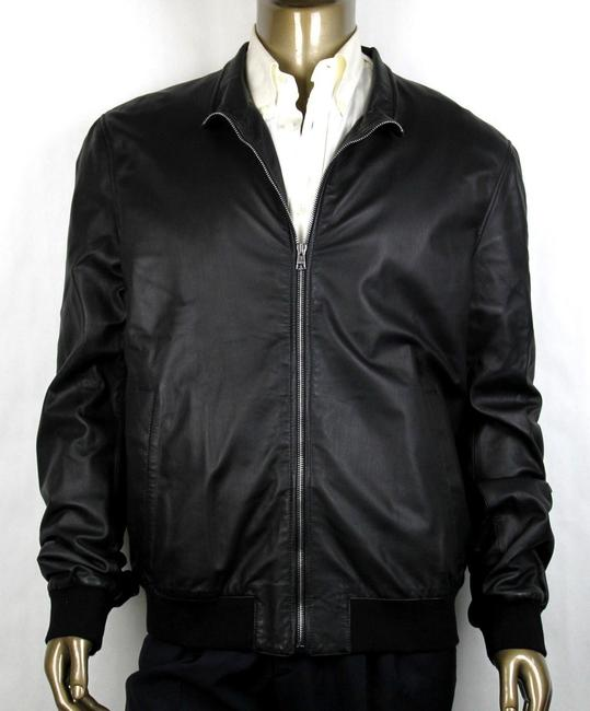 Item - Black Washed Light Napa Bomber Leather Jacket 60r/Us 50r 308706 1060 Groomsman Gift