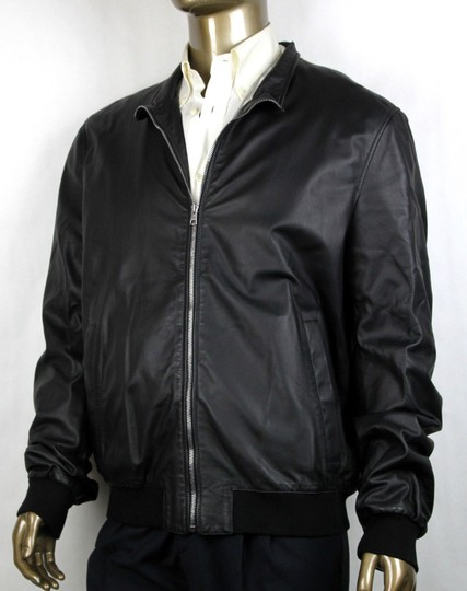 Gucci Black Washed Light Napa Bomber Leather Jacket 60r/Us 50r 308706 1060 Groomsman Gift