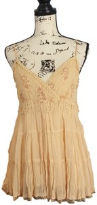 Dolled Up Embroidered Lace Top peach