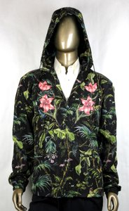 Gucci Black/Green Men's Tropical Jungle Printed Nylon Jacket It 56r/Us 46r 429589 3118 Groomsman Gift