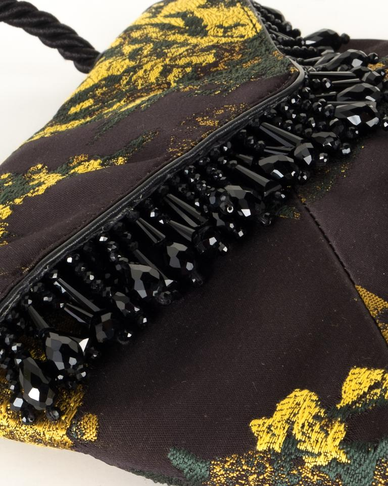 Beaded van Noten Black And Tote Silk Gold Dries Evening Embroidered wZgpxgn
