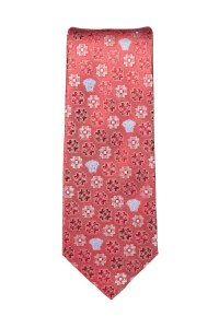 Versace Versace Men's Red Medallion Pattern Silk Tie