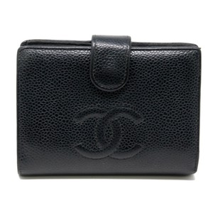 Chanel Signature Caviar Leather CC Timeless Snap Gold Hardware Wallet