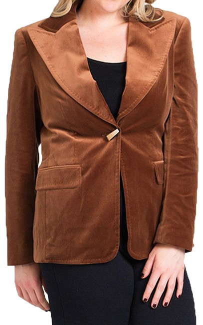 Item - Brown Velvet Jacket (12/42) 74677 Blazer Size 12 (L)