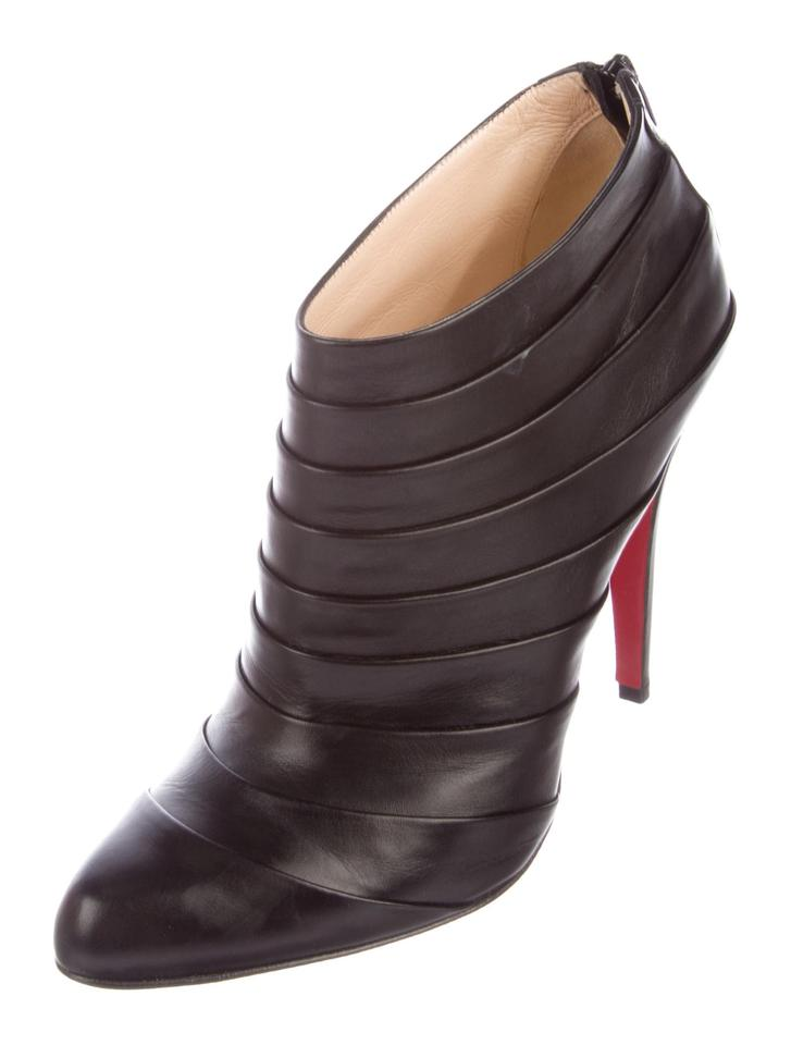 Christian 10 Orniron Black Booties Boots New Louboutin nqqr8xSAB