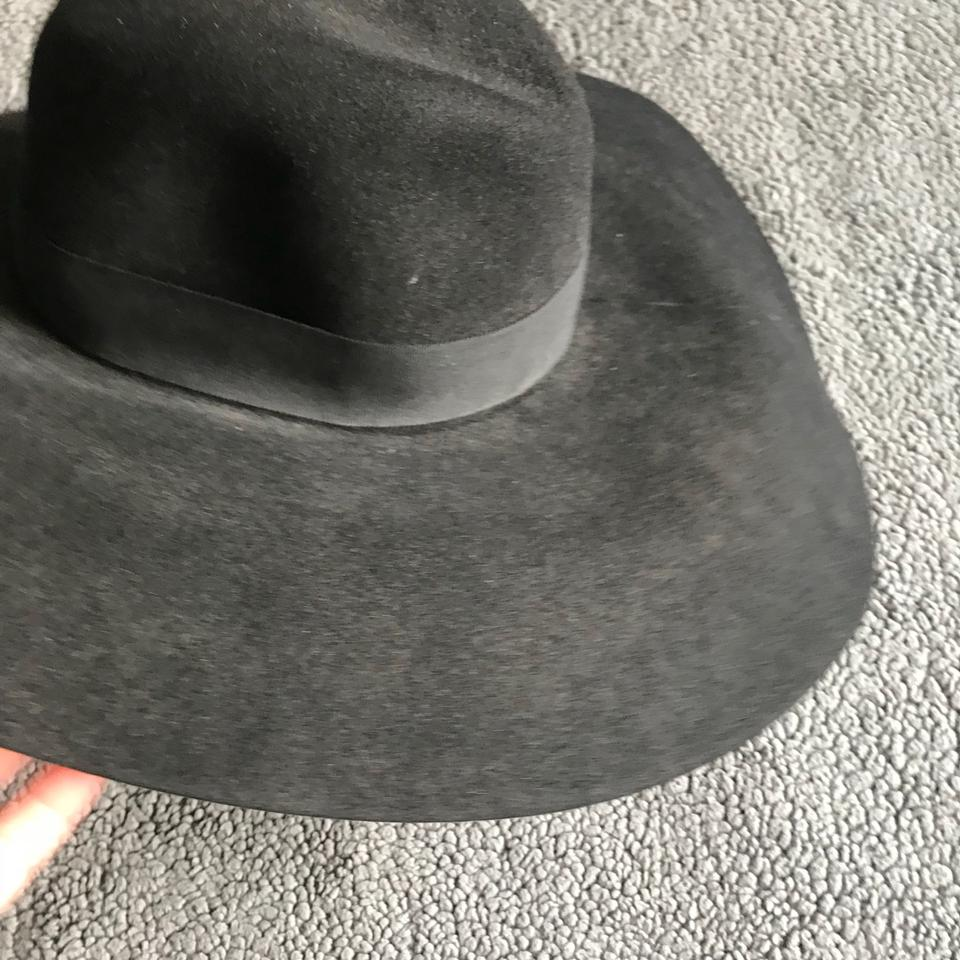 518fca861c5 Saint Laurent Ysl Rabbit Fur Oversized Fedora Hat - Tradesy