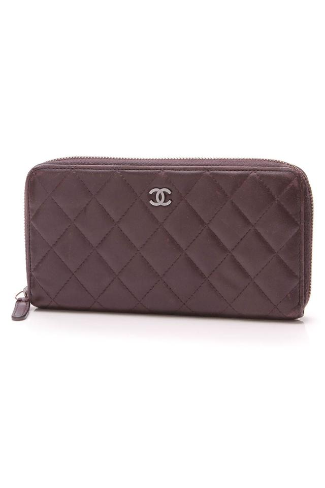3fe3ea932966 Chanel Chanel Quilted Zippy Wallet - Purple Image 0 ...