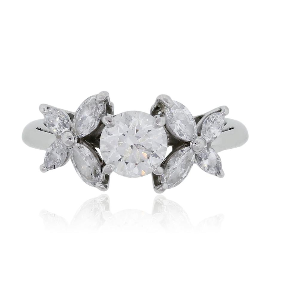 8425a0083 Tiffany & Co. Tiffany & Co. Platinum 1.33ctw Diamond Victoria Ring Image 0  ...