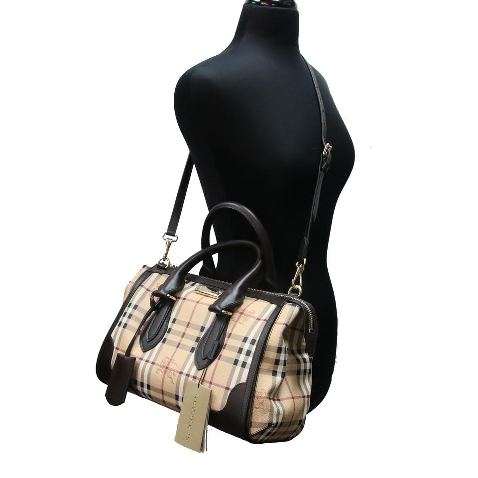 71be976f8354 Burberry Haymarket Check Coated Canvas Small Gladstone Chocolate ...