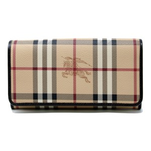 Burberry Classic Haymarket Coated Leather Penrose Continental Single Flap