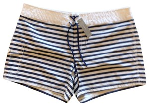 J.Crew Beach Board Shorts Navy Striped