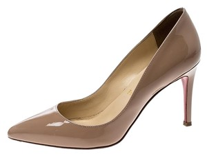 e3797c6f995 Christian Louboutin Patent Leather Pigalle Pointed Toe Beige Pumps