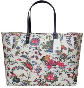 Tory Burch Summer Carryall Tote in White floral