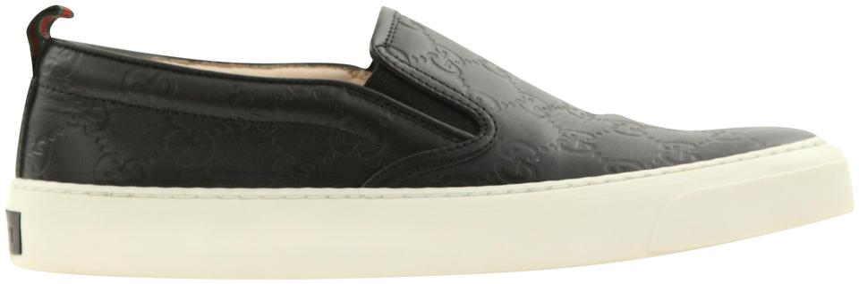 572ed221309bd Gucci Black Signature Slip On Sneakers Sneakers Size EU 38 (Approx ...
