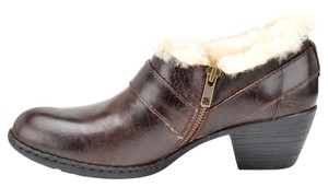 Børn Shearling Shearling Lined Harness Leather Side Zipper mahogany brown Mules