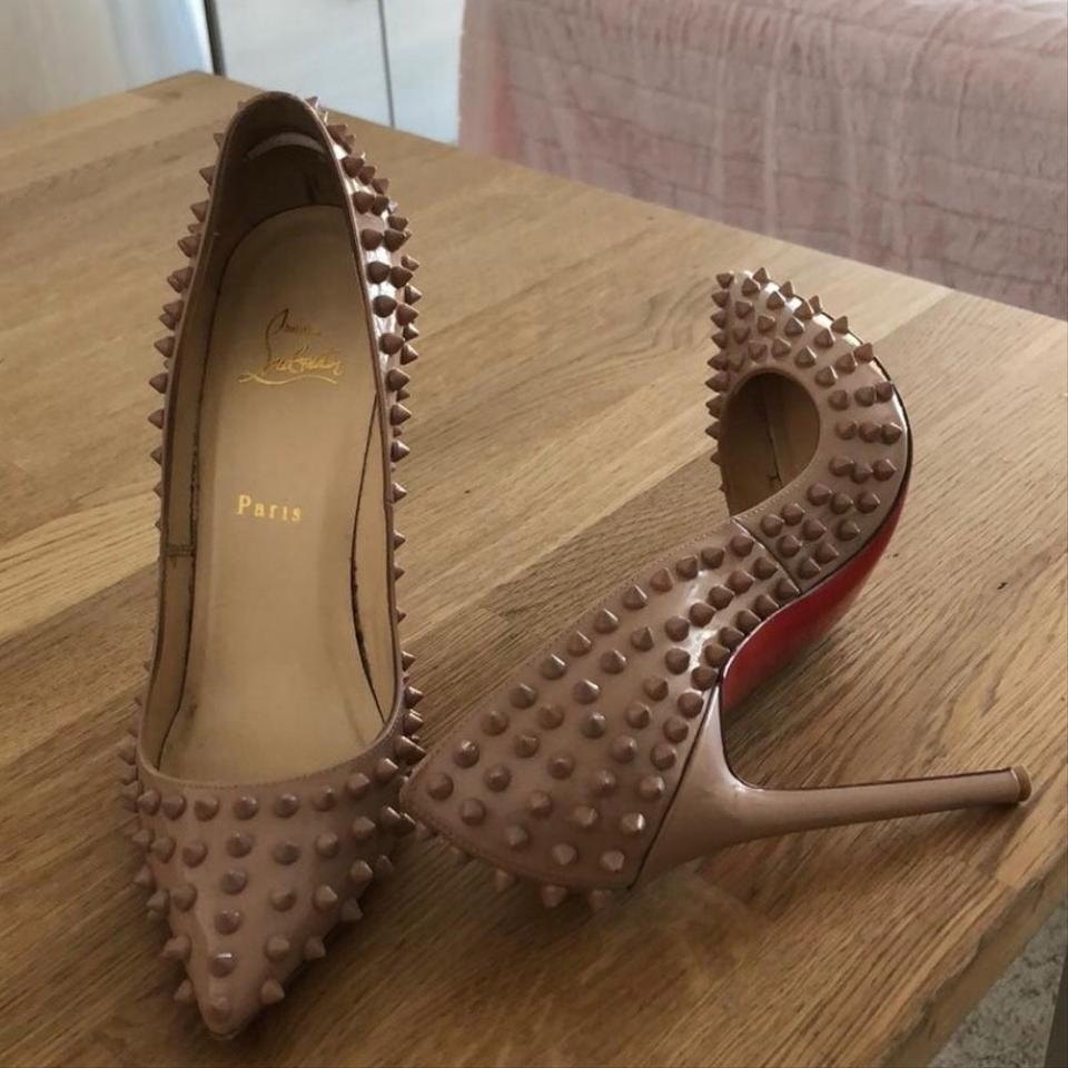 Pigalle Christian Pumps Spiked Nude Louboutin rrxqOYP