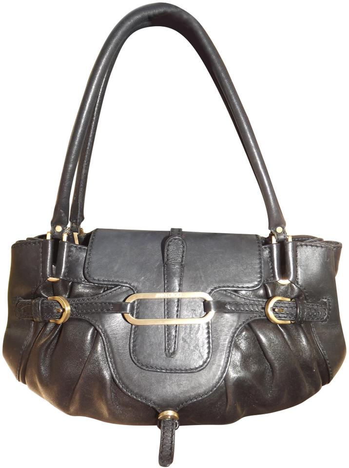 a7c35c070d Jimmy Choo Tulita Black Leather Hobo Bag - Tradesy