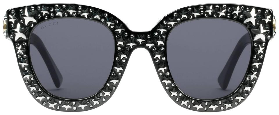 e049dbdd73 Gucci Gucci Cat Eye Acetate Sunglasses with Stars Image 0 ...