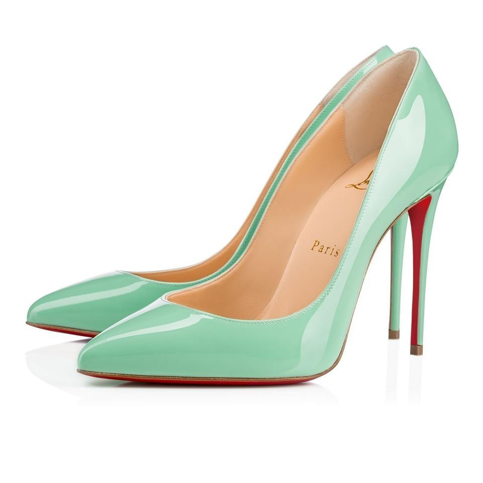 f6cc2196e68 Christian Louboutin Patent Point-toe Pigalle Follies Patent Leather  Turquoise Pumps Image 0 ...