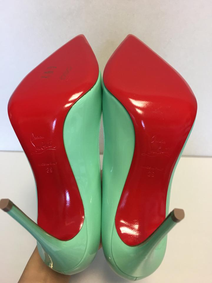 928166e3cf8 Christian Louboutin Turquoise Classic Pigalle Follies 100mm Patent Leather  Point-toe Pumps Size EU 39 (Approx. US 9) Regular (M, B) 38% off retail